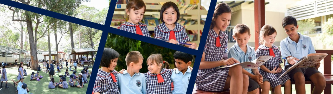 Collage of students at Waitara Public School